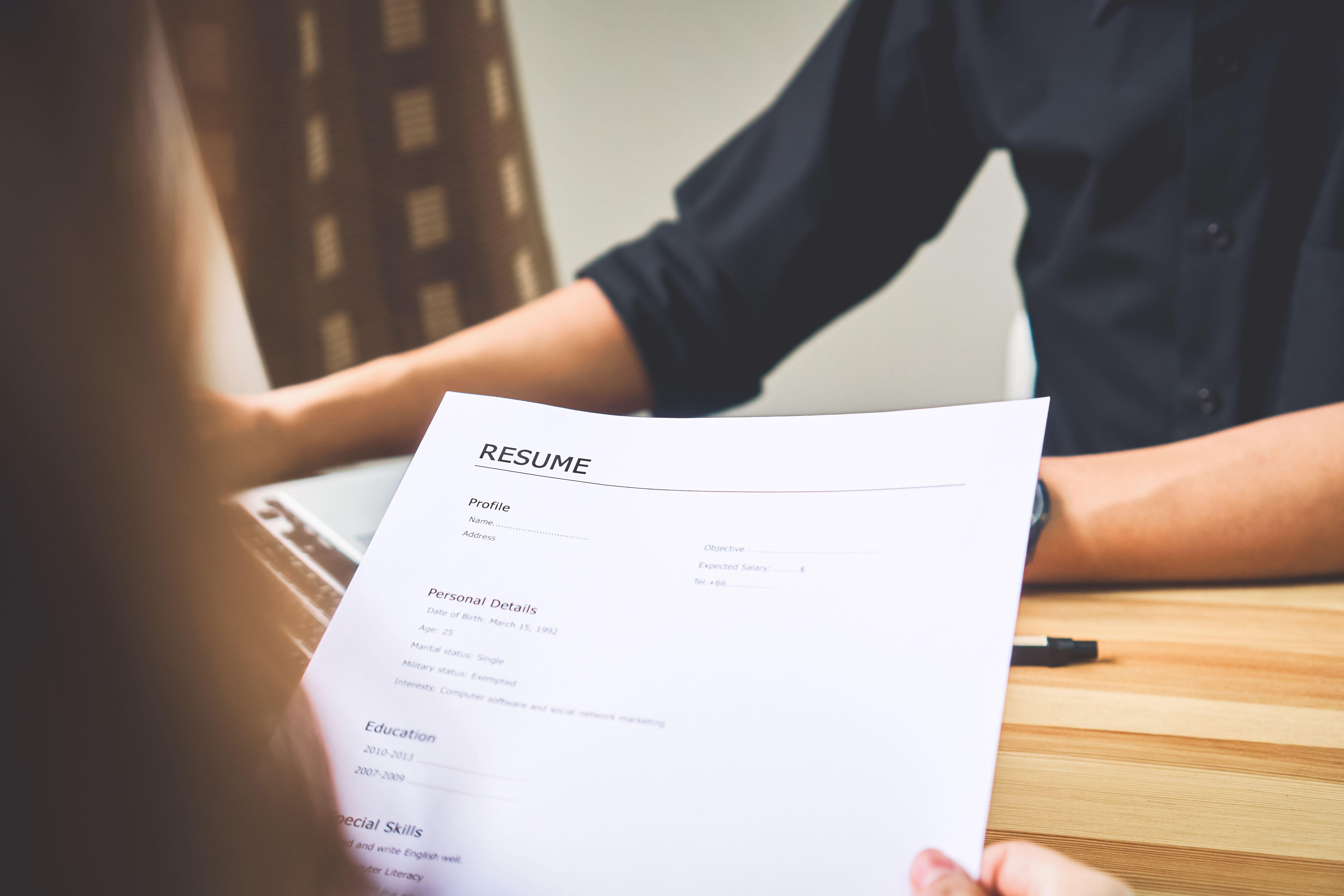 resume examples by occupation  industry  and level