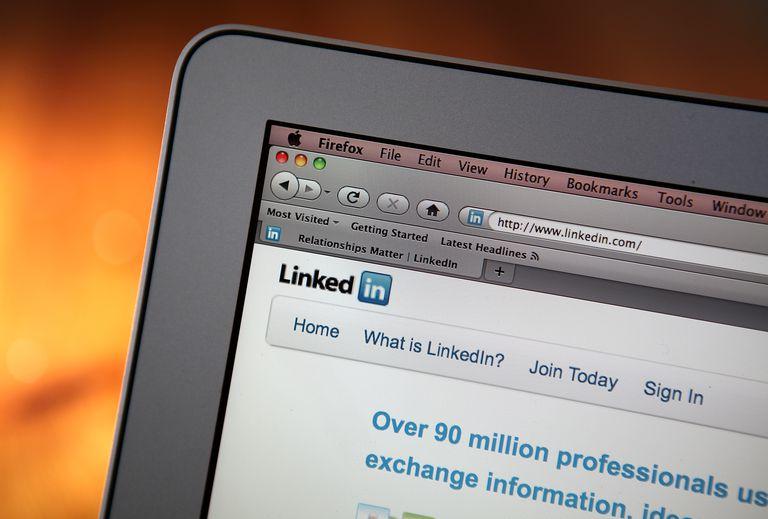LinkedIn account on computer screen