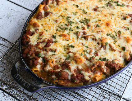 Moms american chop suey recipe this ziti casserole is a real family pleaser forumfinder Images