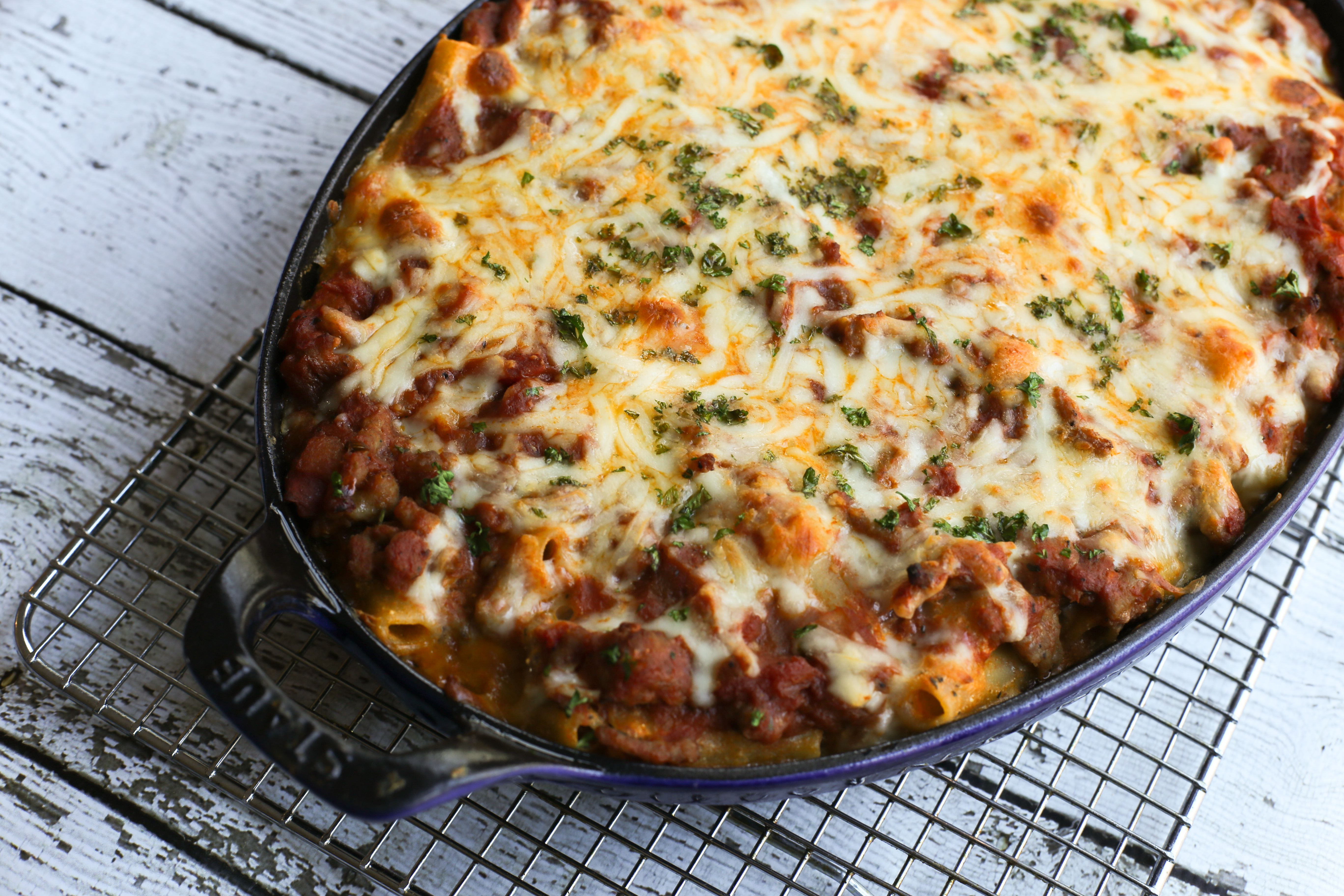 Meaty baked ziti recipe with ground beef and sausage forumfinder Gallery