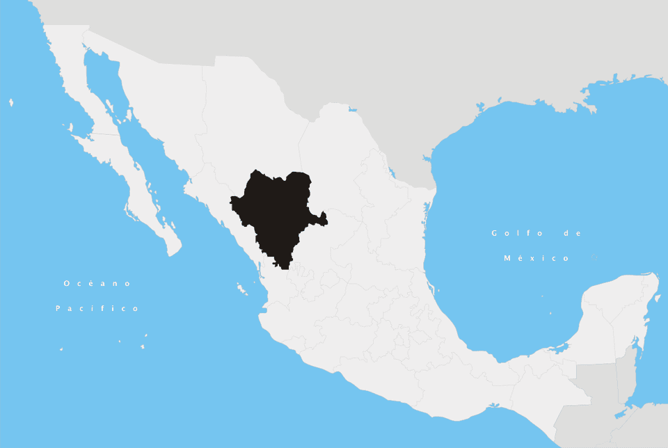 Durango State in Mexico