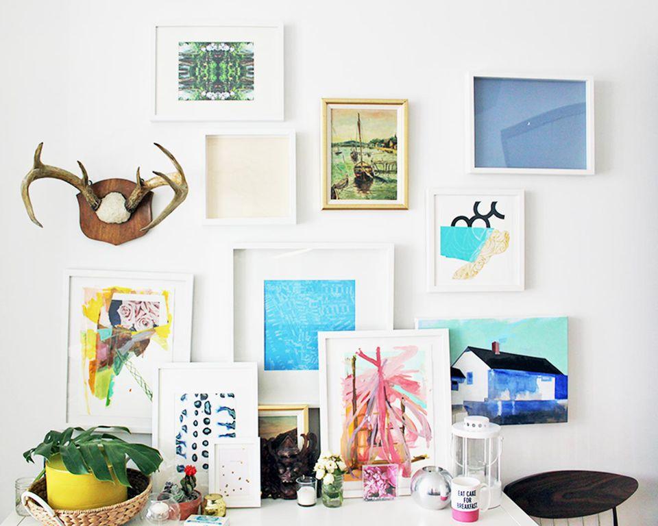 An art filled room