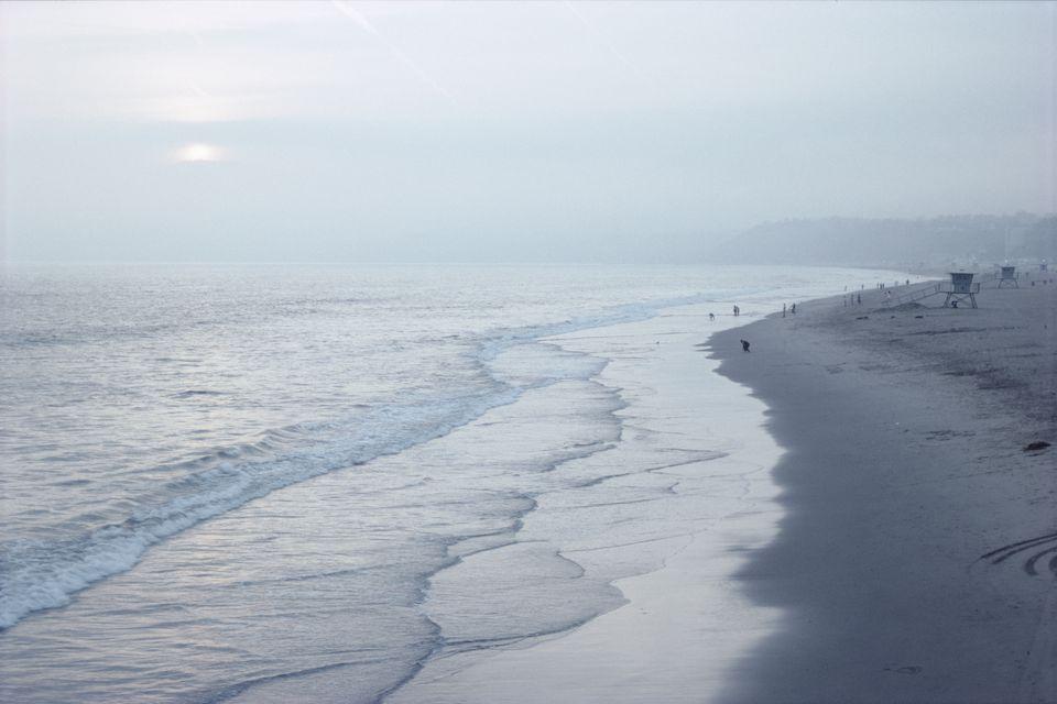 Foggy Morning at Santa Monica Beach