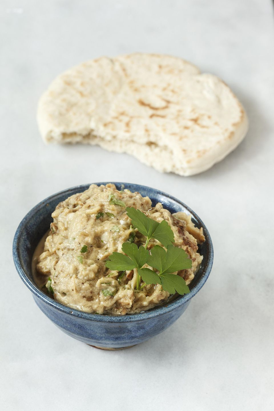 Grilled Eggplant Dip with Toasted Pita