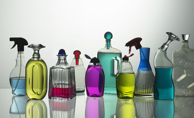 Colourful luxury cleaning household products