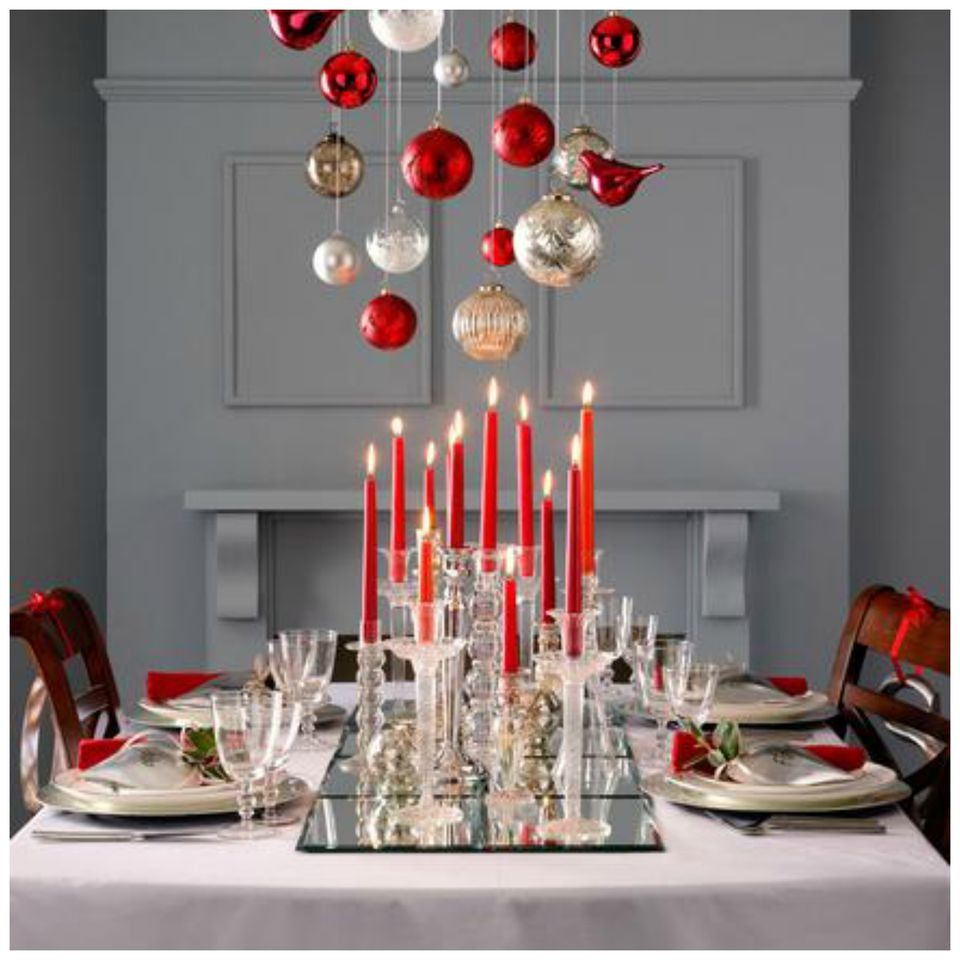 How to decorate with ornaments hang ornaments from a chandelier mozeypictures Image collections