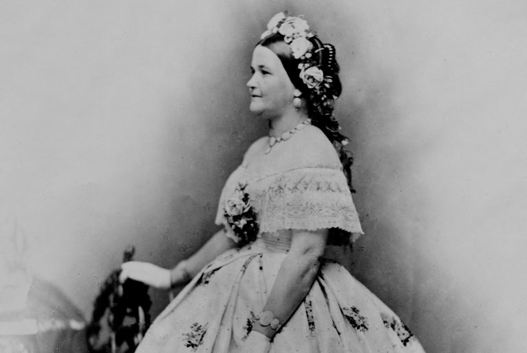 Photographic portrait of Mary Todd Lincoln