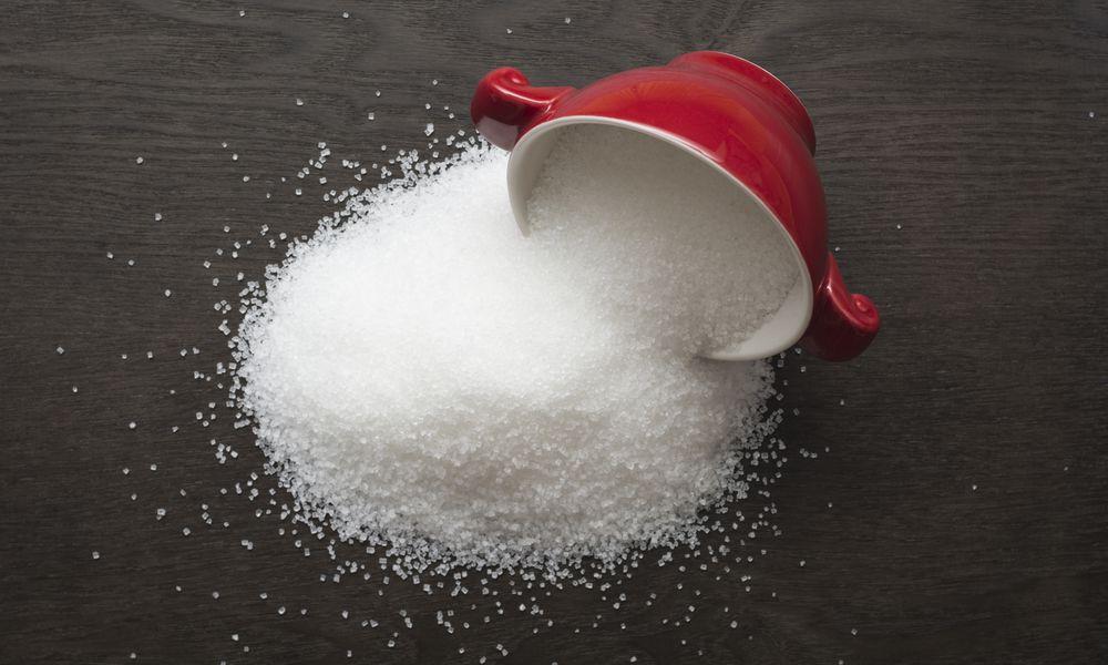 Overturned sugar bowl