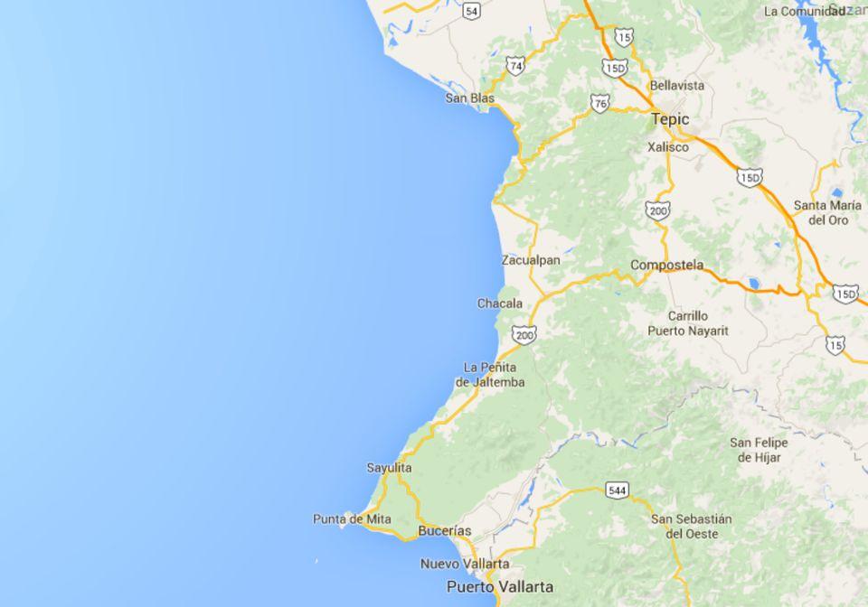 Map of Riviera Nayarit