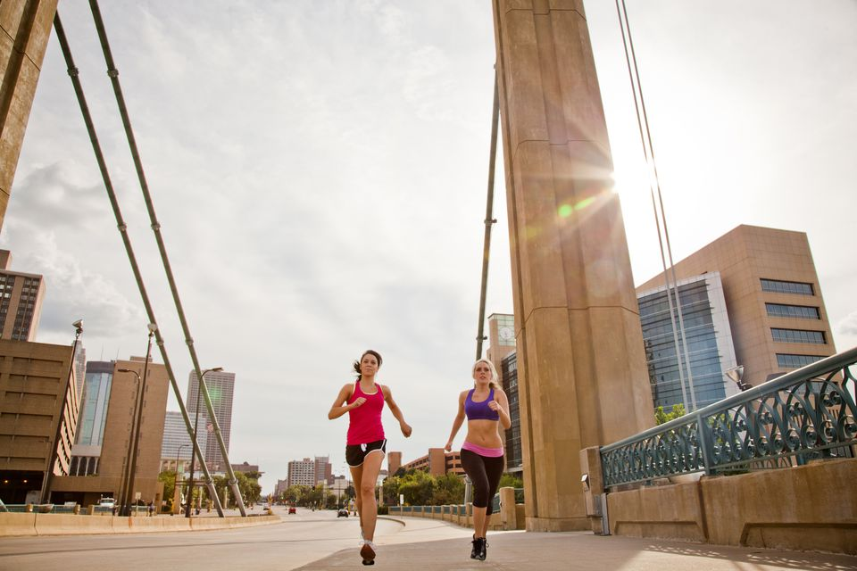 Two runners in Minneapolis
