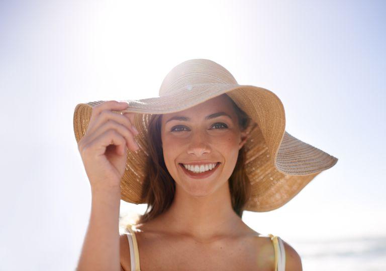 Feeling summery in her sunhat