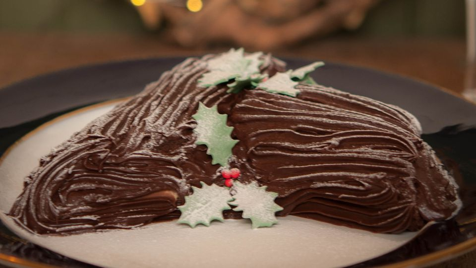 Chocolate and Cream Yule Log