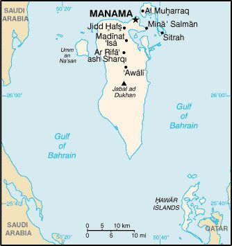 Red sea and southwest asia maps middle east maps map of bahrain gumiabroncs Gallery