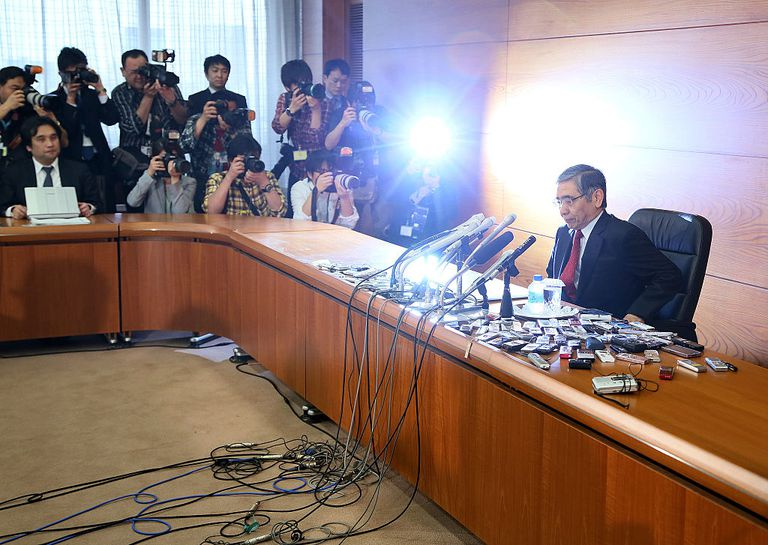 Press conference with the governor of the Bank of Japan