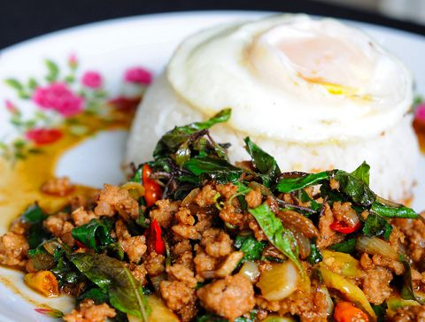 Thai Stir-Fried Pork with Lime and Mint