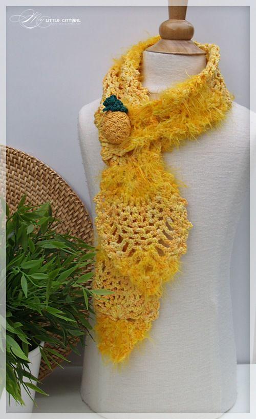 Pineapple Scarf Free Crochet Pattern