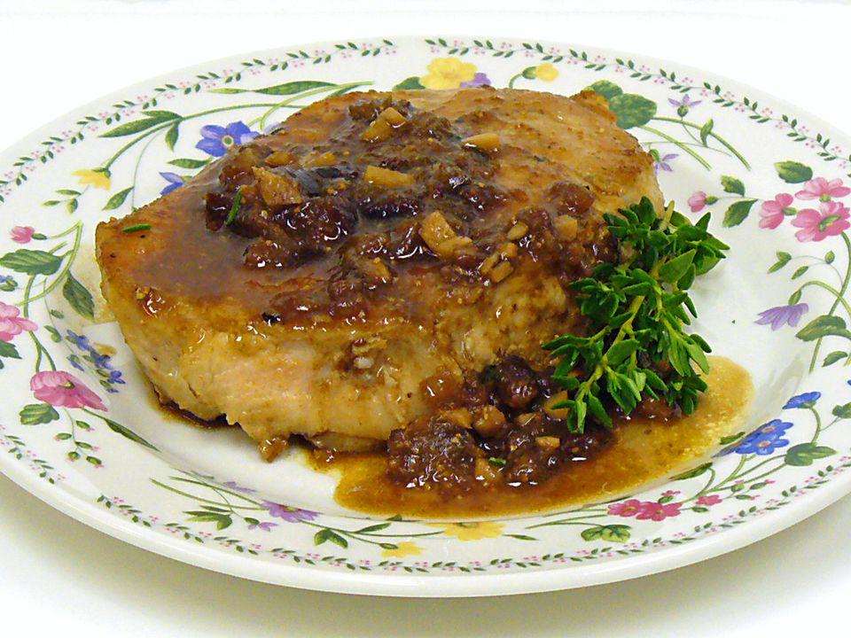 Pork loin chips fig sauce recipe receipt