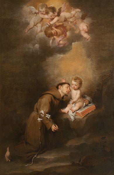 San Antonio de Padua con el Niño de Bartolomé Esteban Murillo