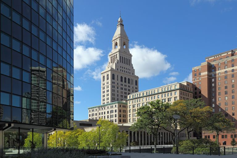 Phoenix Building and Travelers Tower in Hartford, Connecticut.