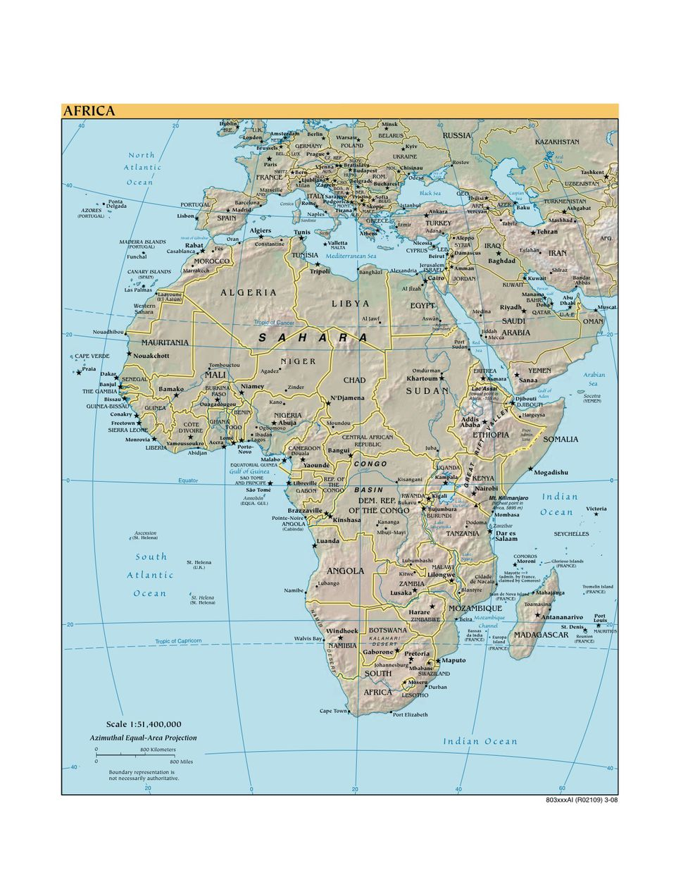 Various Maps Showing How Big Africa Is - Maps of africa