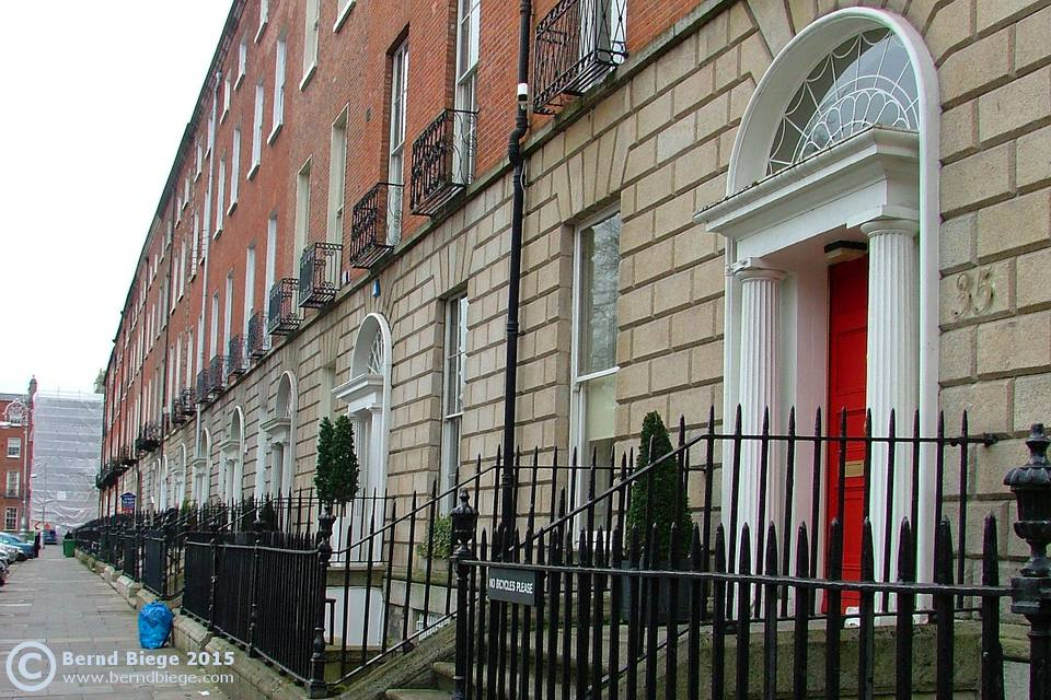 A row of typical Georgian houses in Dublin.