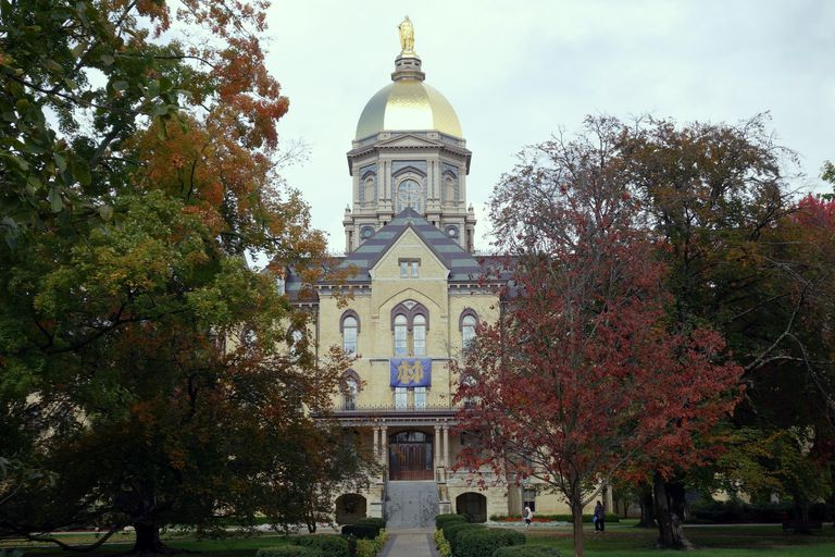 Main building at the University of Notre Dame