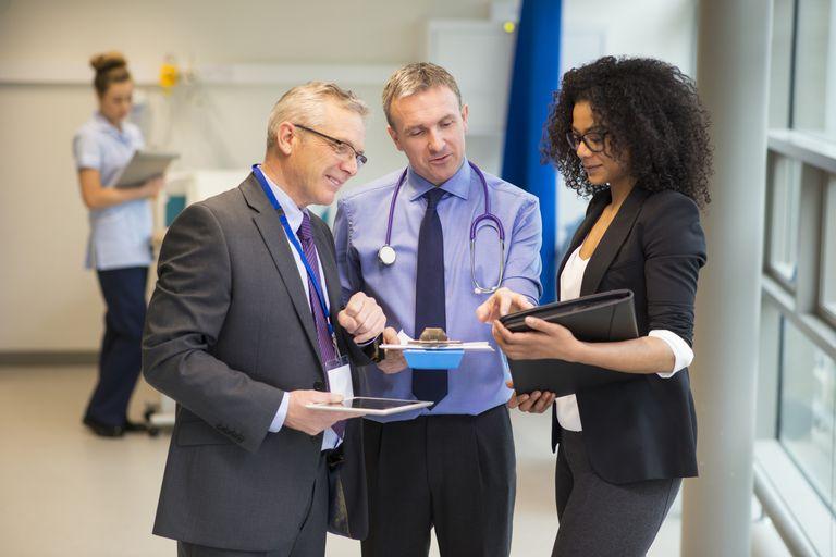 Pharmaceutical sales reps at work