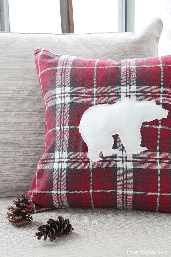 DIY Flannel Polar Bear Pillow