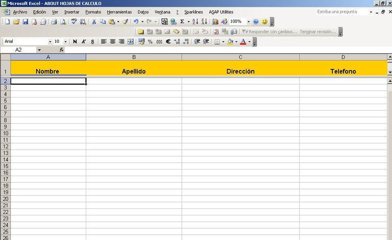 Fijar filas o columnas en Excel