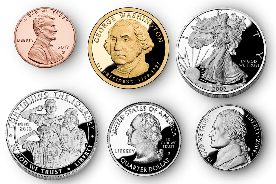 examples of modern proof coins