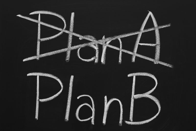 Image of Plan A and Plan B on a blackboard