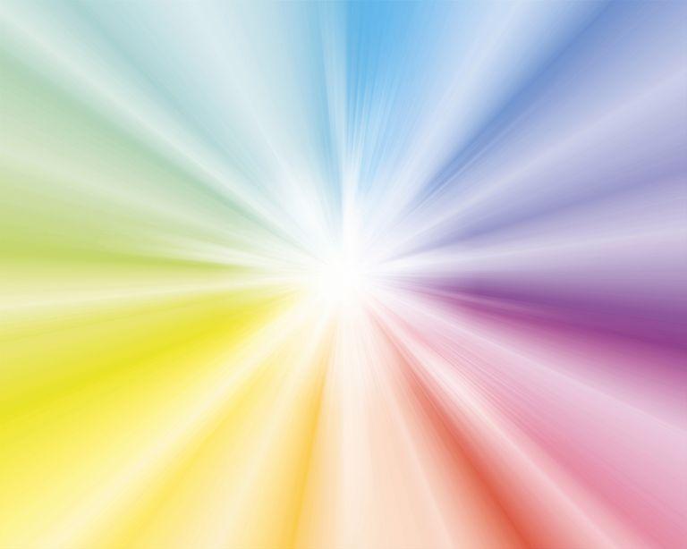 Graphic Star Burst in Rainbow Colors