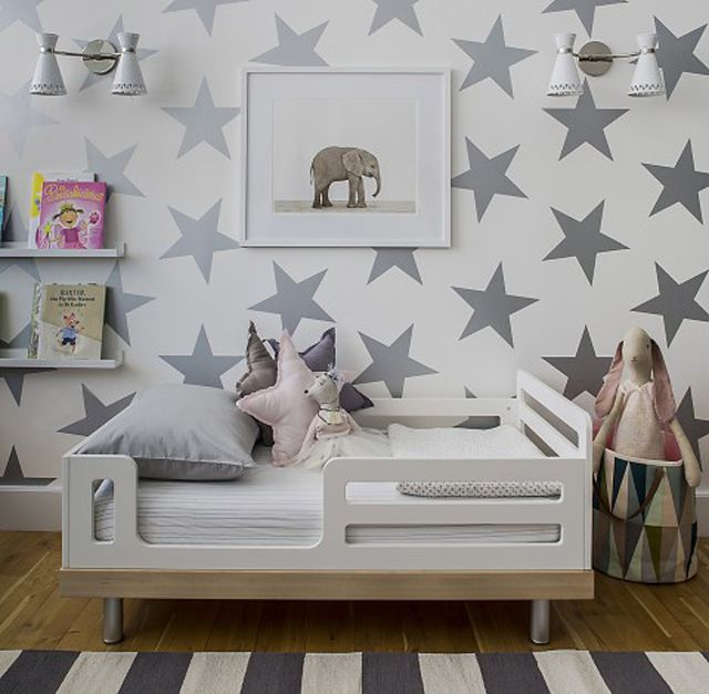 19 metallic wallpaper prints for nurseries kids rooms - Metallic Kids Room Interior