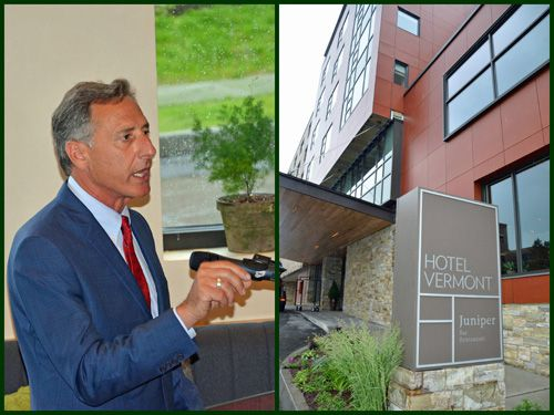 Governor Shumlin at Hotel Vermont