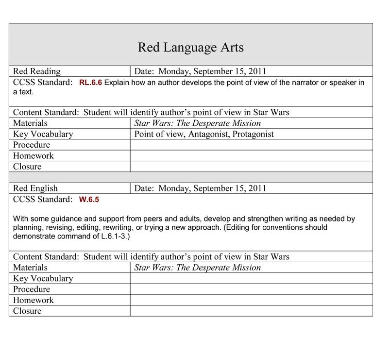 Writing lesson plans in the self contained classroom for New york state lesson plan template