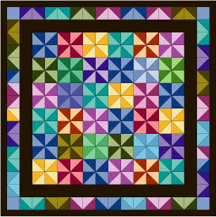 Use a Multicolored Fabric to Inspire a Quilt Design : quilt drawing - Adamdwight.com