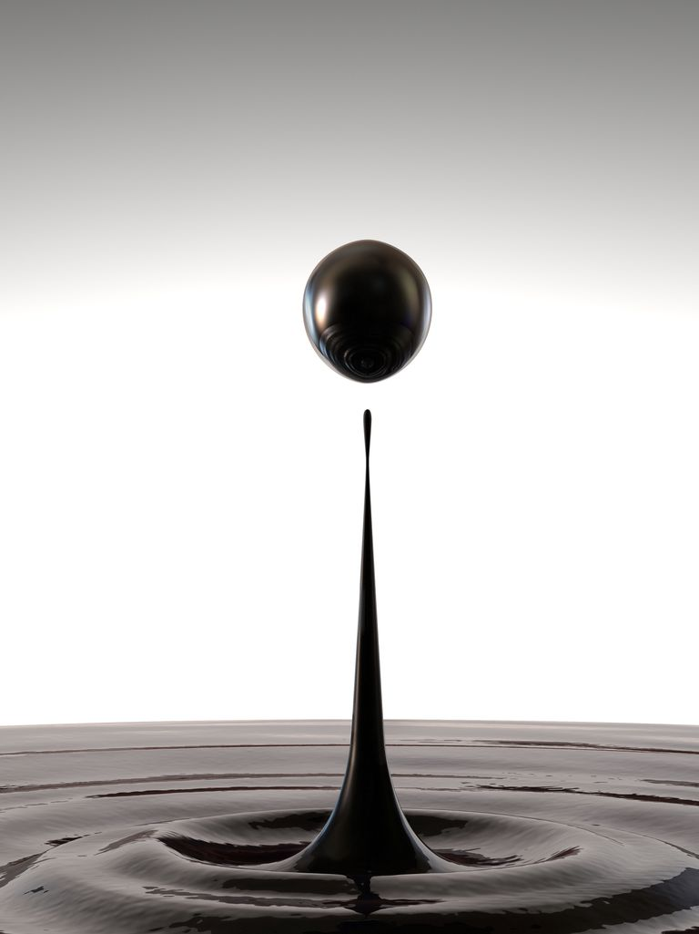 droplet of crude oil