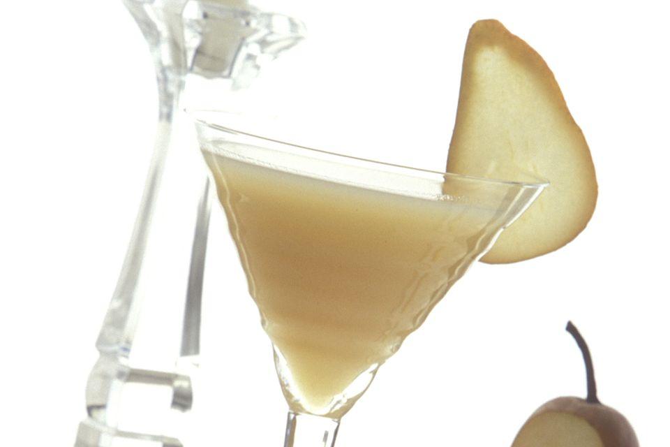 Spiced Pear Caipirini with Leblon Cachaca