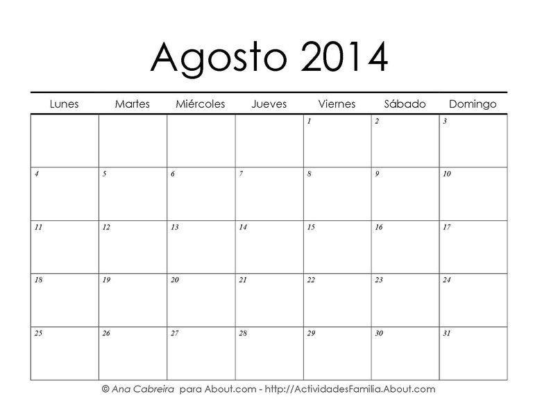 Calendarios imprimibles gratis: Calendario enero 2014 para ...