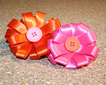 How to Make Flowers Using Ribbon