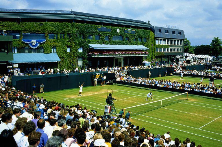 England,London,Wimbledon,women's doubles match on Court No.3