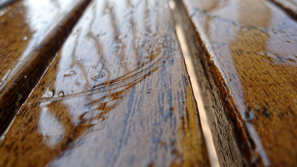 Close-Up View Of Wet Water Surface