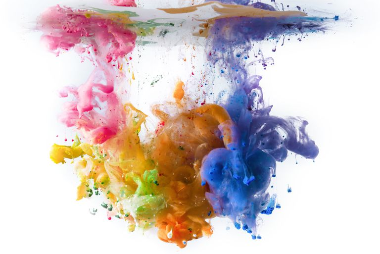 A solute is the chemical dissolved in a solution. In this case, acrylic paint is the solute and water is the solvent.