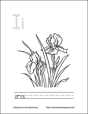 Letter I Coloring Book