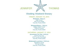 Free Wedding Itinerary Templates And Timelines - Wedding day timeline template free