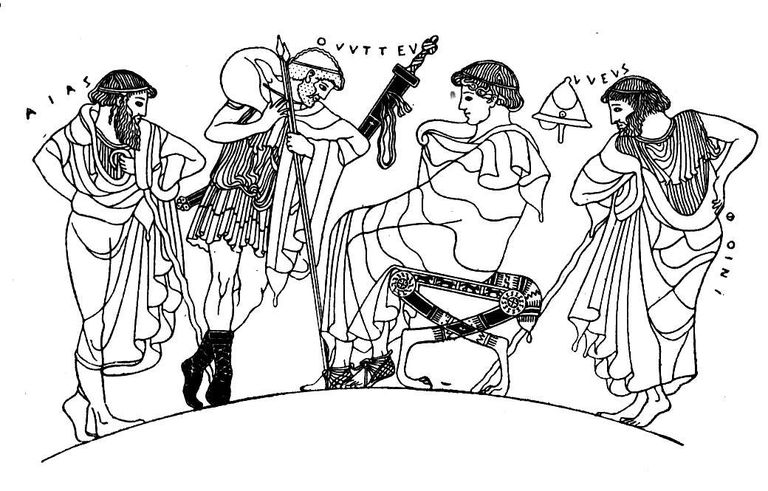 Iliad Characters Ajax, Odysseus, and Phoenix Meet With Achilles in Book IX of the Iliad