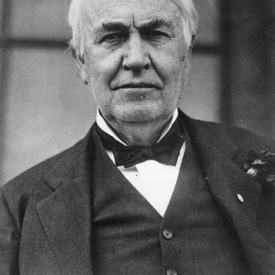Inventor and scientist Thomas Edison.