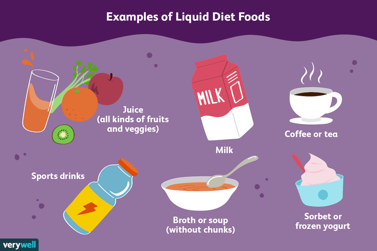 full liquid diet foods