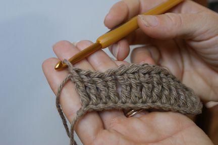 One Complete Row of Treble Crochet Stitches