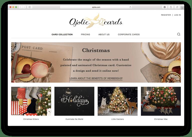 Ojolie - Christmas E-Cards